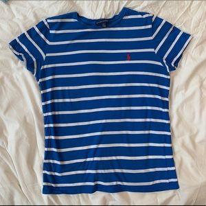 Tops - Ralph Lauren blue striped t-shirt
